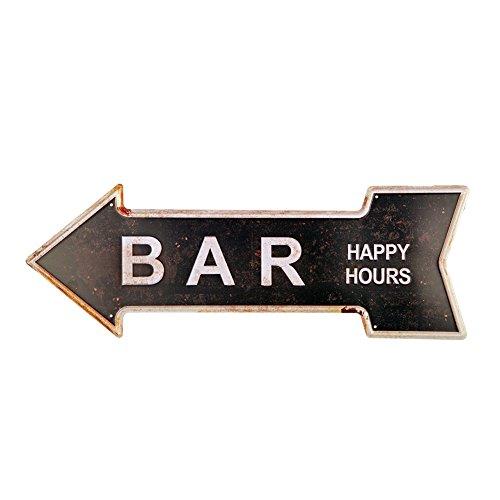 yosee Bar Metal Tin Signs con rústico Retro Flecha decorativa Canta Para Cafe Pub tamaño 16.9x plateado