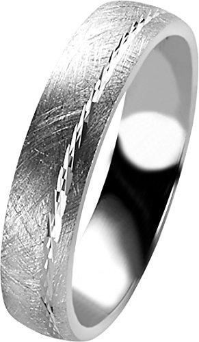Orphelia Unisex -Einfache Hochzeits-Band 925-Sterling Silber Ringgröße 52 (16.6) OR9980/52