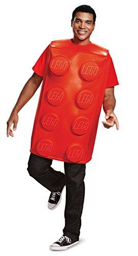 LEGO 66172ML-15L Red Brick-Adult Kostüm M/L, Mehrfarbig