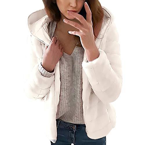 Ears Damen Winter Warm Jacke Fashion Hooded Short Coat Gepolsterte Kapuzenjacke Plus Size Tunic Tops Freizeit Baumwolle Sweater Langarm Sweatshirt Winterparka Strickjacke Hoodie Jacke -