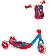 Idea Regalo - Mondo- Spider-Man Monopattino a 3 Ruote per Bambini, Multicolore, 8.00101E+12