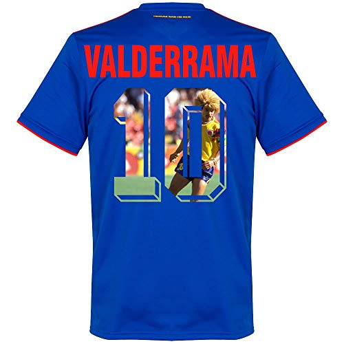 Kolumbien Away Trikot 2018 2019 + Valderrama 10 (Gallery Style) - L - Kolumbien Fußball Adidas