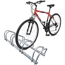 Râtelier vélo 4 vélos Range vélo Système Range vélo Rangement pour vélo Support pour Bicyclette Sol ou Mural en Acier revêtu Support de Rangement vélo Jardin ou Garage Râtelier Familial