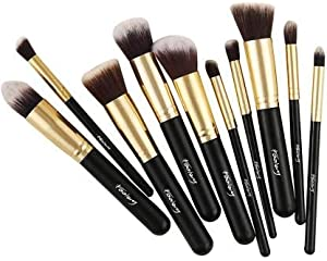 Foolzy® Set of 10 Professional Makeup Brushes Kit  BR 15F