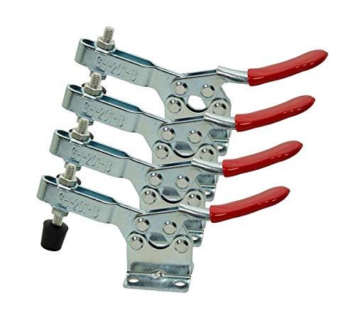 Pull Verriegelung - COLJOY Quick Release Metall Horizontal Schnellspanner Toggle Clamp Werkzeug - 90 kg 198lbs Fassungsvermögen 4pcs - Verriegelung Aus Metall