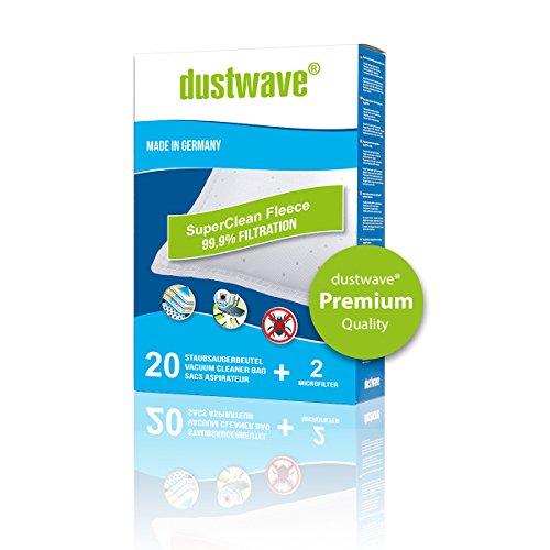 Superpack - 40 dustwave® Premium-Staubsaugerbeutel geeignet für Hoover - H 28 / H28 Bodenstaubsauger - Microvlies-Filtertüten Made in Germany inkl. Microfilter