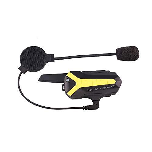 HM2 Bluetooth Talkie-walkie PTT Casque, Casque Bluetooth Intercom 3000M de Moto Mains Libres imperméable, pour Motards, Ski de Neige
