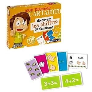 Jeu de 110 Cartes éducatives Cartatoto Apprendre chiffres lettres Enfant 3 ans + - Les chiffres