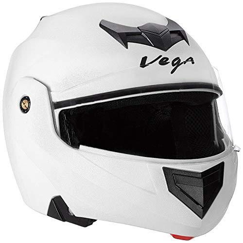 Vega Crux CRX-W-L Flip-up Helmet (White, L)