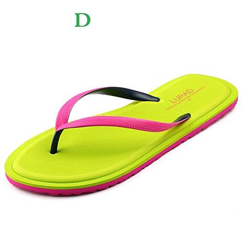 Signore coreano moda e infradito/Estate luce pantofole/Scarpe da spiaggia/Skid casual piatti sandali e pantofole A