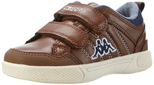 Kappa Rooster, Sneakers Basses Garçon Marron (Brown/navy)