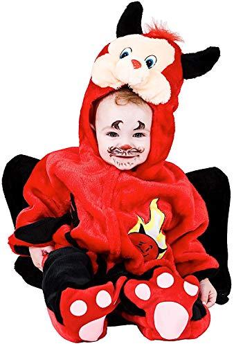 Costume di carnevale da dolce diavoletto vestito per neonato bambino 3-12 mesi travestimento veneziano halloween cosplay festa party 2934 taglia 6-9