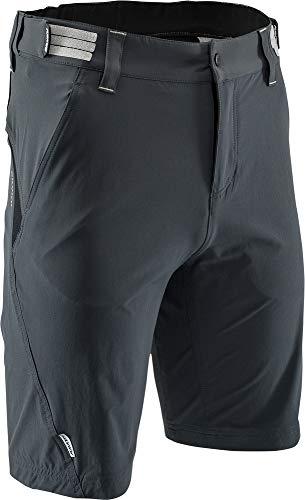 SILVINI Herren Elvo MTB Kurze Hose mit 2 Seiten und 2 Hinten Reißverschlusstaschen Kohle - 4XL - Reißverschlusstasche Hinten