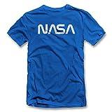 shirtground NASA T-Shirt Royal-Blue L