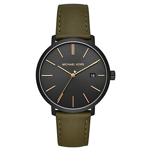 Michael Kors Blake Green Leather Men's Watch MK8676