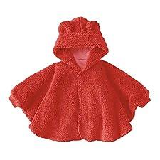 Baby-Bekleidung Baby-Mantel-Schal dicke Decken Bär roten Mantel