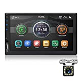 MiCarBa Universal 7-Inch HD 1024 * 600 Double Din Car Stereo Video Player,Touch Screen Car Stereo with Remote Control Support FM Android 4.0-8.0 Mirror Link Rear Camera (CL7032B)
