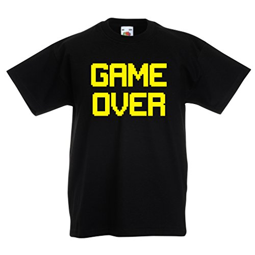 Kinder T-Shirt Spiel über lustige Gamergeschenke (3-4 years Schwarz Gelb)