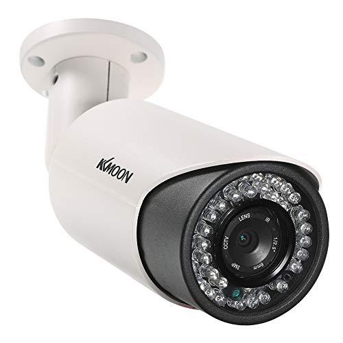 KKmoon 4MP HD POE Cámara IP de Vigilancia Cámaras Bala 6mm 1/3' CMOS P2P Onvif 42PCS Lámparas IR Vista Nocturna IR-CUT Detección de Movimiento Impermeable Control de APP de Teléfono