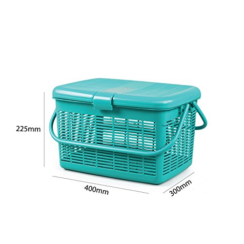 Cello Plastic Jumbo Utility Basket (Green)
