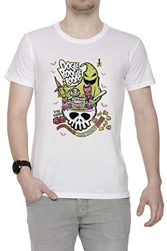 oops Herren T-Shirt Rundhals Weiß Kurzarm Größe S Men's White T-Shirt Small Size S ()