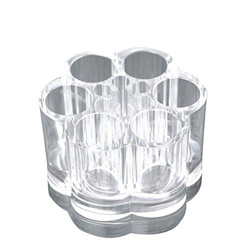 Denshine Fleur acrylique transparente de stockage Affichage Cosmétique et maquillage Organiseur Cosmétique Rouge à lèvres Boîte support