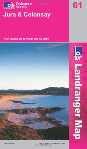 Price comparison product image Jura and Colonsay (Landranger Maps) (OS Landranger Map)
