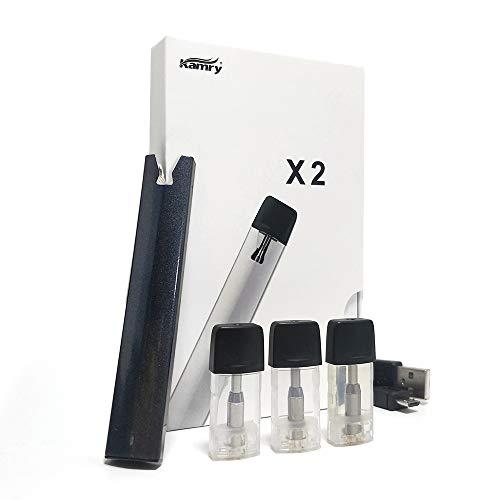 KACIG Ultra Thin Mini E Zigaretten Starter Kit, 300 Puffs Nachfüllbarer Vape 1.5ml-Behälter Automatisches Räuchersystem, 320mAh Tragbarer E-Cig Stift, Kein Nikotin Kein E-Liquid MEHRWEG(Schwarz) Mini Thin Led