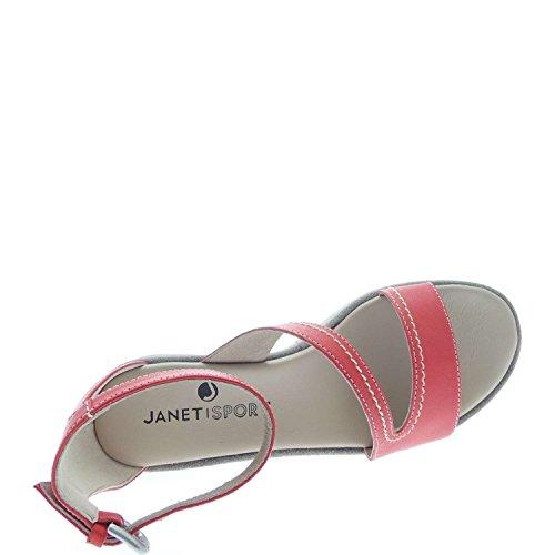 Janet Sport , Sandales pour femme Rouge - Rosso