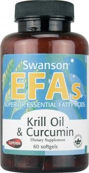Swanson EFAs Krill Oil & Curcumin (60 Softgels) from Swanson Health Products