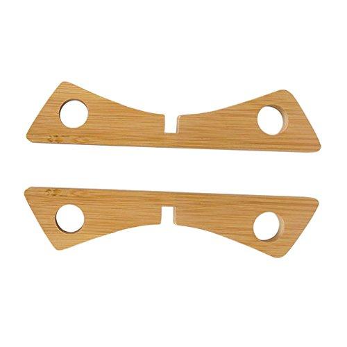 D DOLITY Almohadilla de Aislamiento Bambú Desmontable Almohadilla Creativa Herramienta de Cocina...