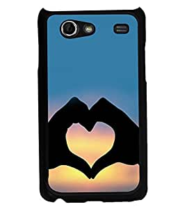 printtech Heart Peace Hardwell Sunset Back Case Cover for Samsung I9070 Galaxy S Advance :: Samsung Galaxy S II Lite
