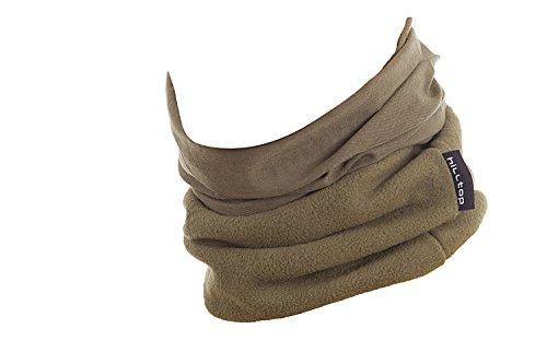 Hilltop Polar Multifunktionstuch mit Fleece, Motorrad Halstuch/Schlauchschal/Ski Gesichtsmaske/TOP Farben, Farbe Polar Tuch:oliv uni -