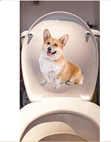 Haustier Hund Corky Home Room Wandtattoos Dekoration Lustige Toilette Aufkleber 15,5 * 20,4 CM
