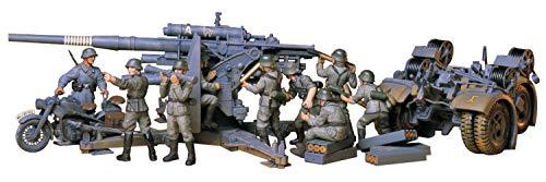 TAMIYA 300035017 - 1:35 WWII Dt. Flak 8.8 mit Motorrad (9)