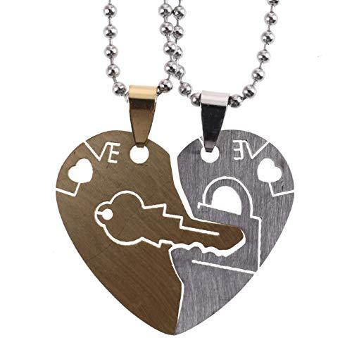 Spenbroke Unfassbar Anhänger Juwelier Liebhaber Freundin Best Halskette Set for Key Heart Halskette Freund Geschenk Set Valentinstag Paar(None - Spencers Geschenke Kostüm