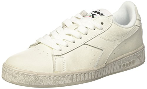 Diadora Game L Low Waxed, Scarpe  Low-Top Unisex – Adulto, Bianco (Bianco/Bianco/Bianco), 40 EU