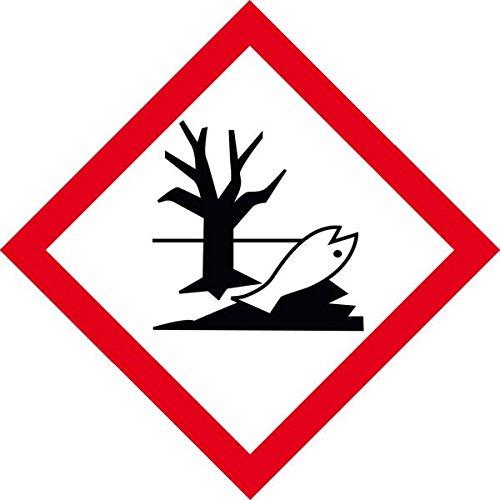 LEMAX® Gefahrensymbol Umwelt GHS09, Folie, selbstklebend, 26x26mm, 21/Bogen (Gefahrensymbole)