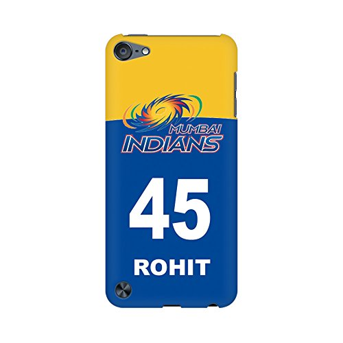 Mobicture Case/Back Cover for Apple iPod Touch 5-(Classic Master Rohit Sharma Jersy Number)  available at amazon for Rs.449