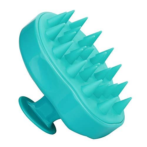 Clean Spazzola Morbido Massaggio Del Cuoio Capelluto Pettine Dei Capelli Shampoo Pennello In Silicone Per Uomini Donne Verde