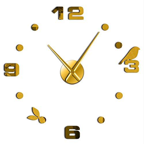 Txyang manifestazione acrilica autoadesiva acrilica degli orologi 3d di autoadesivo dell'orologio della parete di diy dell'oggetto d'antiquariato decorativo moderno semplice dell'orologio