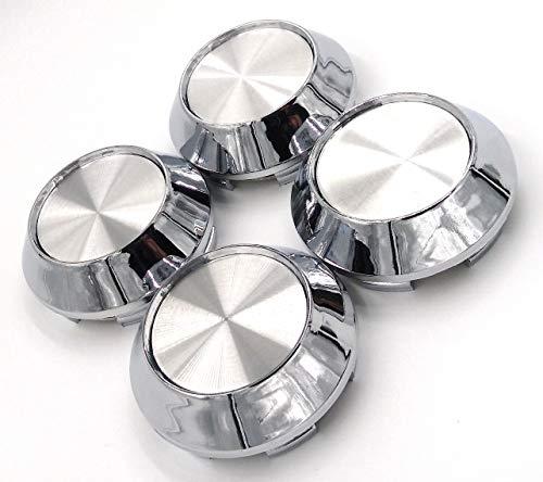 4x Universal Chrome Silver Car Auto Alloy Wheel Center Hub Caps Covers Set No Logo Plain
