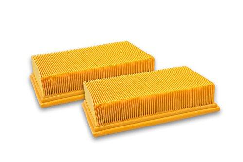 vhbw 2x Flachfaltenfilter Filter für Staubsauger Hilti VC-20, VC-40, VC 20 UM, VC 40 UM wie Bosch 2607432033, Dewalt D279015-XJ