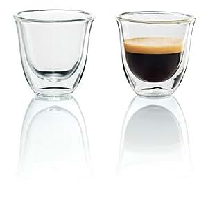 DeLonghi 5513214591 Isolierte Espresso-Glas 2er Set