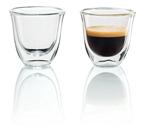 DeLonghi 5513214591 - Juego de vasos para espresso (2 unidades), transparente