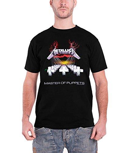 Metallica T Shirt Master of Puppets Album Tracks Oficial de los...