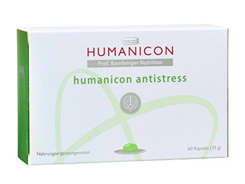 humanicon antistress - Nahrungsergänzungsmittel mit B-Vitaminen B1 B2 B3 B5 B6 Folsäure B12, Biotin, Q10, Magnesium und Phosphatidylcholin - 60 Kapseln - keine Tabletten - kein Medikament