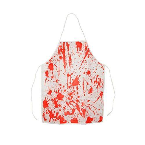 (BESTOYARD Halloween-Kostüm Blutige Schürze Halloween-Horror-Metzger Koch-Schürze für Erwachsen-Kostüm-Partei)