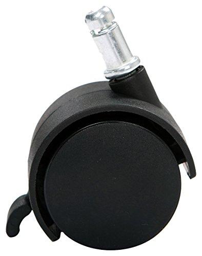 AKRcing Pro Casters con Freno, 5 Ruedas, Color Negro, Material Plástico