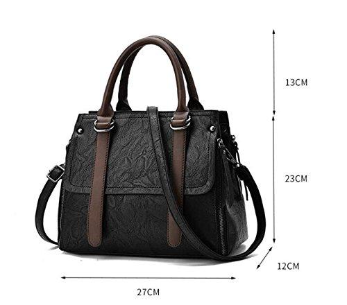 Damen Handtasche Umhängetasche Messenger Bag Casual Handtasche Fight Farbe Tasche Diagonal Paket Weiches Brot B